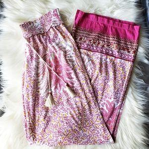   Anthropologie   Floreat Pink Paisley Sleep Pants